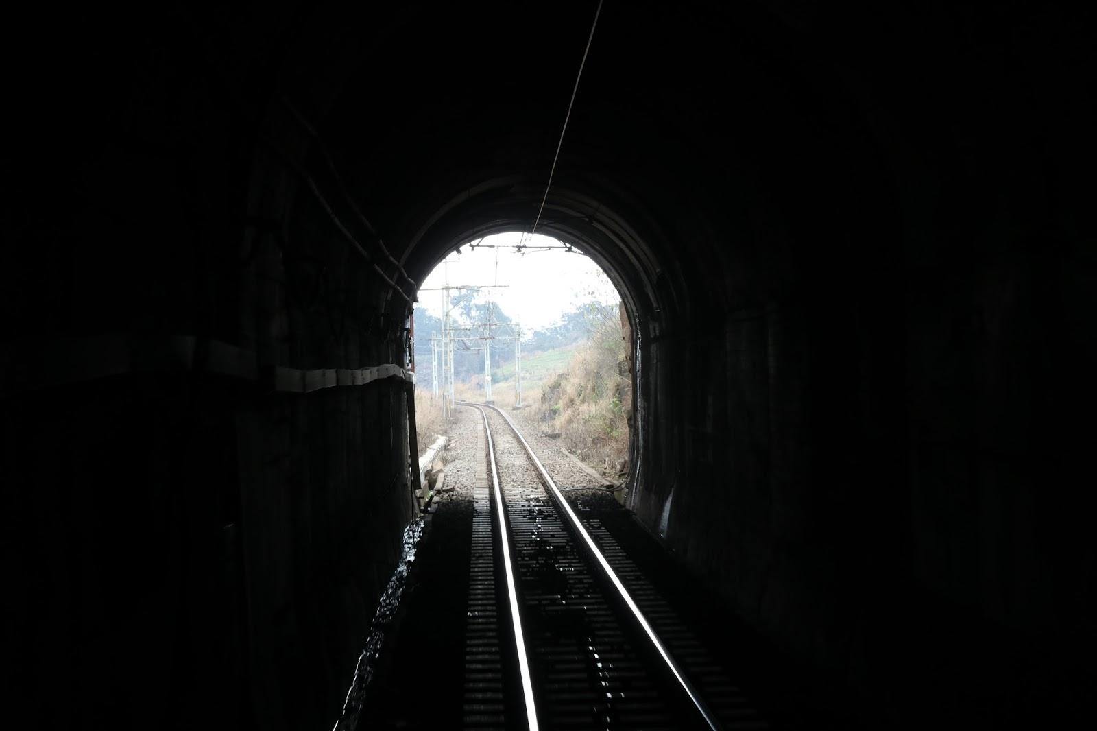 tunnel and train tracks