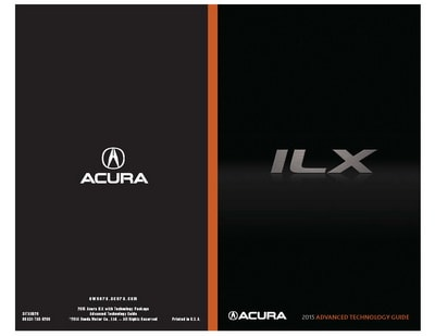 2015 Acura ILX Owner's Guides and Manuals
