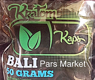 Kratom Kaps Bali Capsules in 50 Grams Bag at Pars Market Columbia Maryland 21045