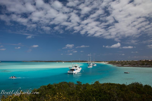 Warderick Wells mooring field, Exuma Land and Sea Park