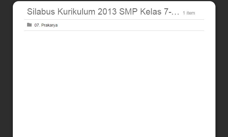 Silabus Kurikulum 2013 SMP Kelas 7-8-9 Prakarya Lengkap Revisi Terbaru
