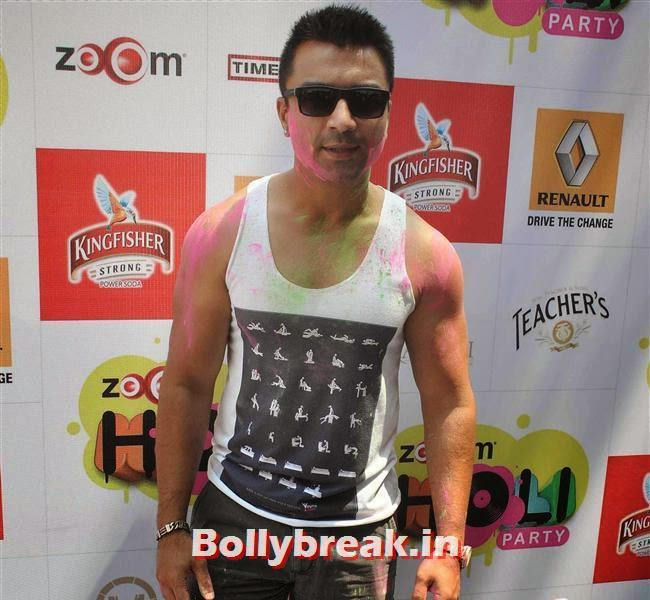 Ajaz Khan, Sunny, Tanisha, Poonam & Kainaat at Zoom Holi Party 2014