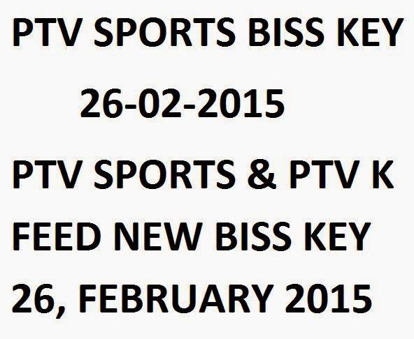 PTV Sports Biss Key 26 February 2015 PTV K Feed Biss Key 26 Feb 2015