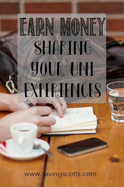 earn money sharing uni experience