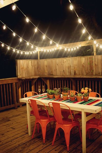 Inspiracion guirnaldas de luces para el exterior - Luces para patios ...