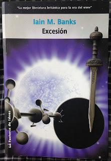 Portada del libro Excesión, de Iain M. Banks