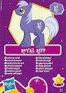 My Little Pony Wave 6 Royal Riff Blind Bag Card