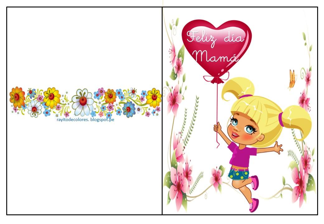 Rayito de Colores: Tarjetas día de la Madre para imprimir