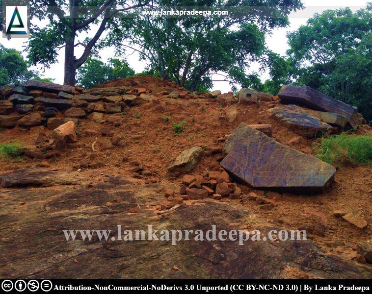 The dilapidated Stupa at Keheliya Viharaya
