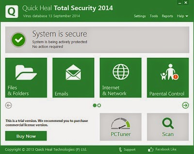Quick Heal Total Security 2014 v15.00 - Offline Installer Setup 32bit And 64bit Free Download | By Uday