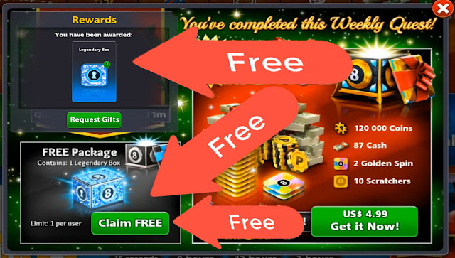 legendary box 8 ball pool Free