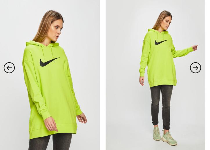 Nike Sportswear - Bluza dama originala galbena