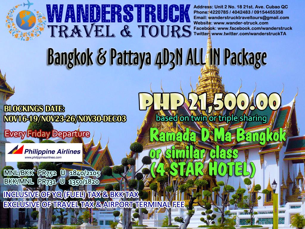 Bangkok Pattaya All In Package - WANDERSTRUCK TRAVEL & TOURS