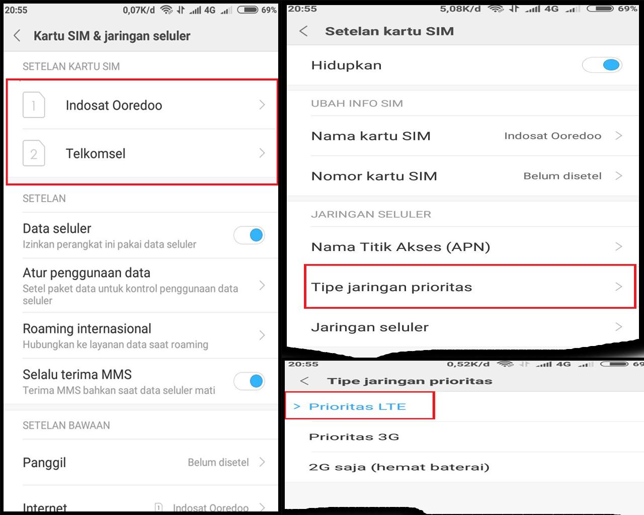 Cara Mengaktifkan Sinyal 4g Lte Only Di Xiaomi Redmi Note 5a Prime
