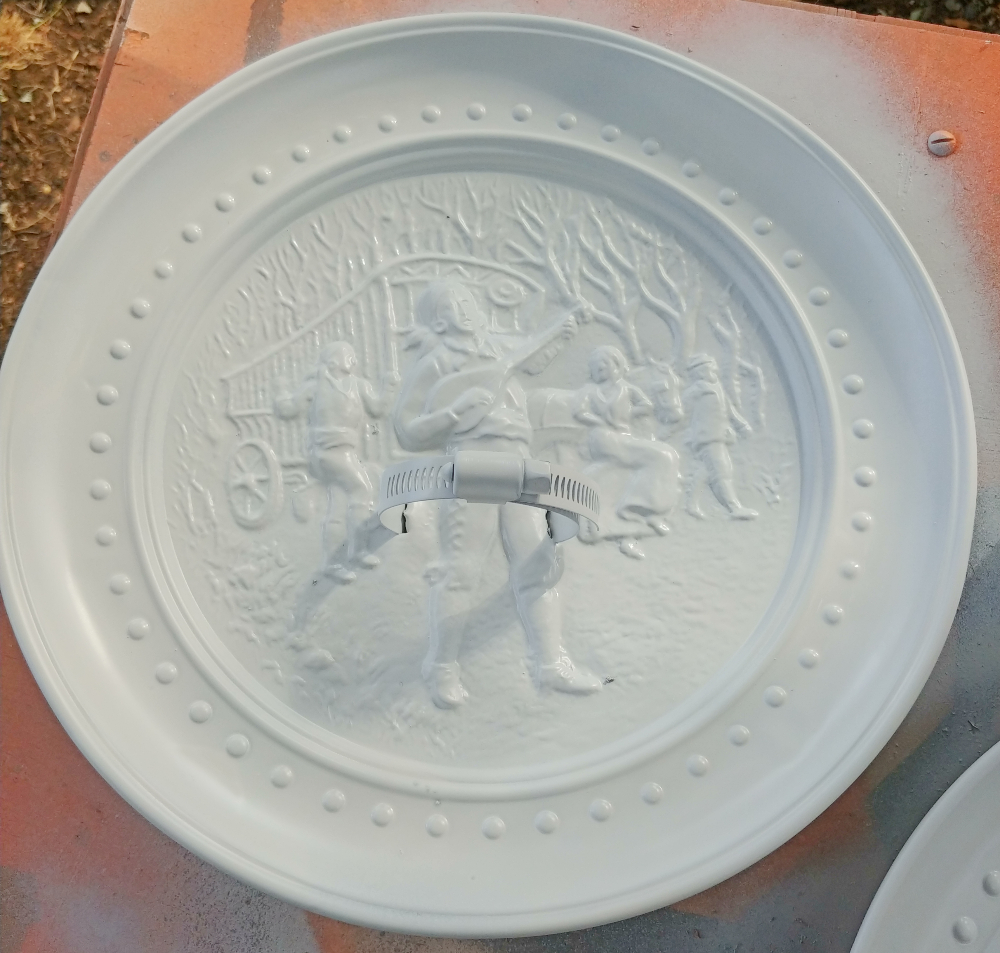 painted decorative plate