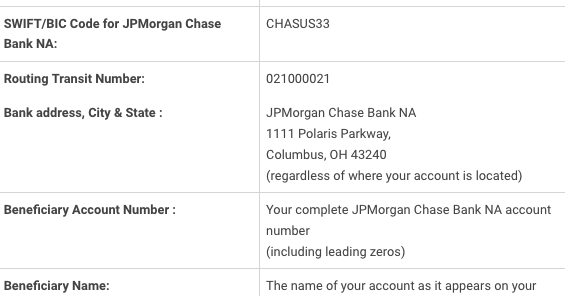 chase bank address for wire transfer www chase com rh abaroutingnumber info Chase Wiring Fee chase bank wire receiving instructions