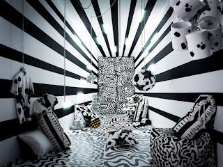 colección spridd Ikea estampado blanco y negro