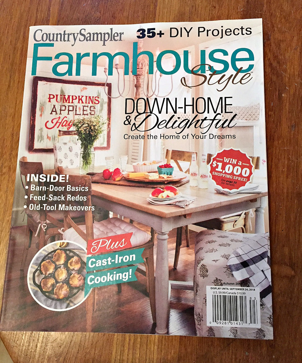 Junk Garden Ideas 2018 Edition: Country Sampler Farmhouse Style Magazine Feature