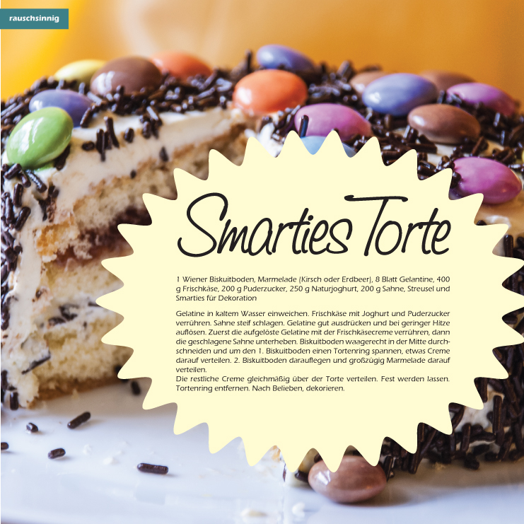 yummy smarties torte. Black Bedroom Furniture Sets. Home Design Ideas