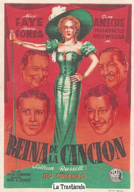 Programa de Cine - La Reina de la Canción - Alice Faye - Don Ameche - Henry Fonda