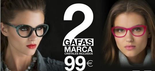0200ce7dac Opticalia llévate 2 gafas de marca, con cristales incluidos por solo 99  Euros