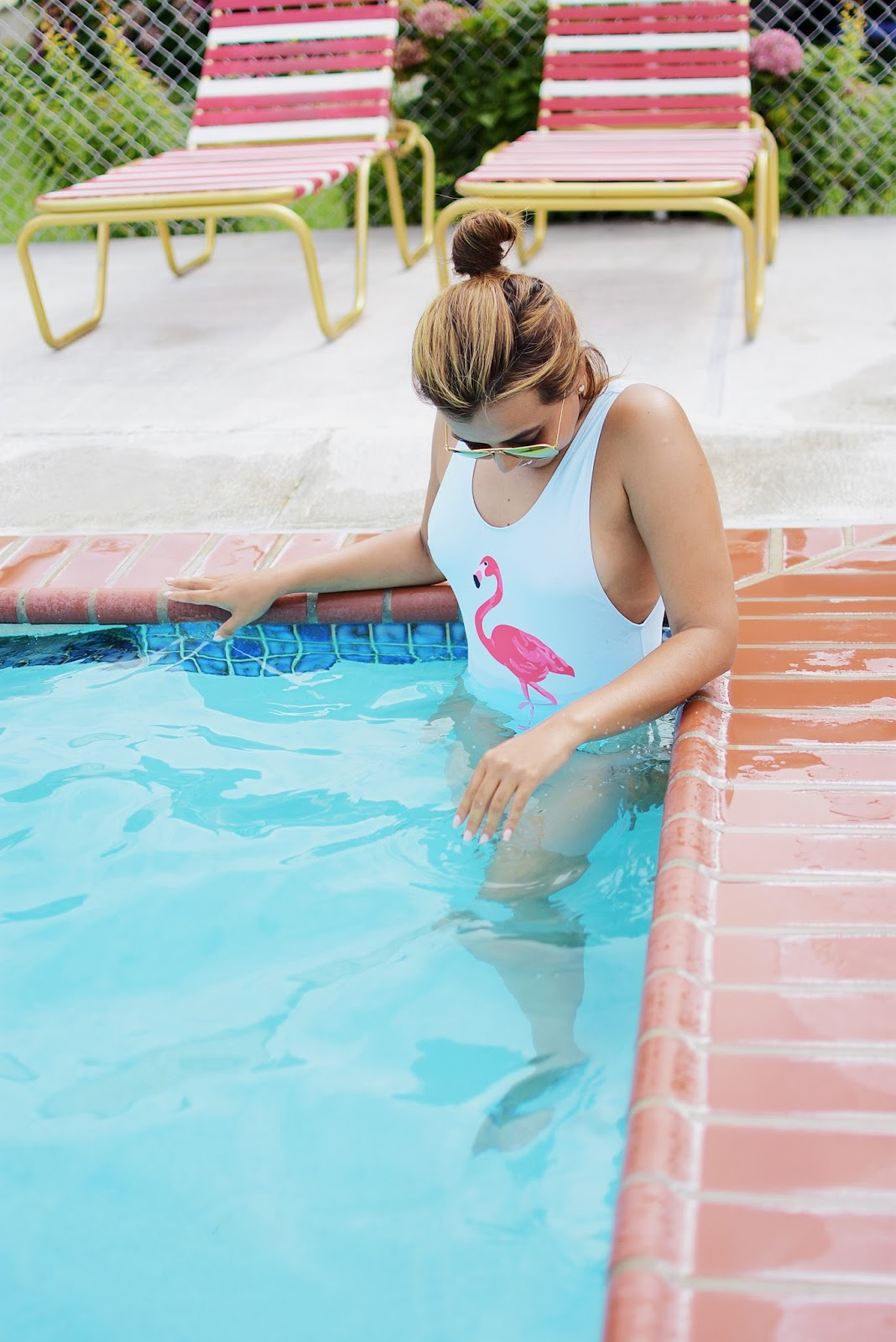 Flamingo Print Tank Swimsuit-look of the day-mariestilo-mariestilotravels-travelblogger-moda-oceancity-vacaciones