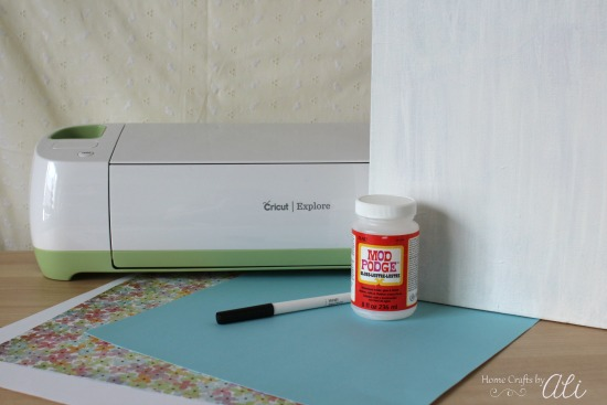 craft supplies to makeover painted canvas