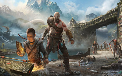 Kratos et Atreus God of War PS4 - Fond d'écran en Full HD 1080p