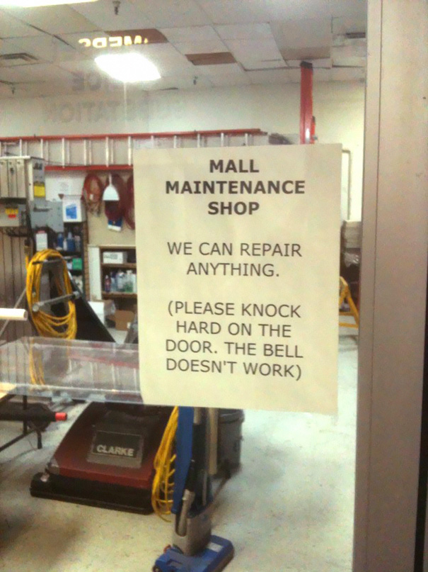 35 Hilarious Pictures Capturing Ironic Moments - The Bell Doesn't Work