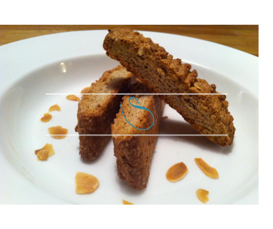 Whole wheat almond biscotti - Biscotti blé complet aux amandes