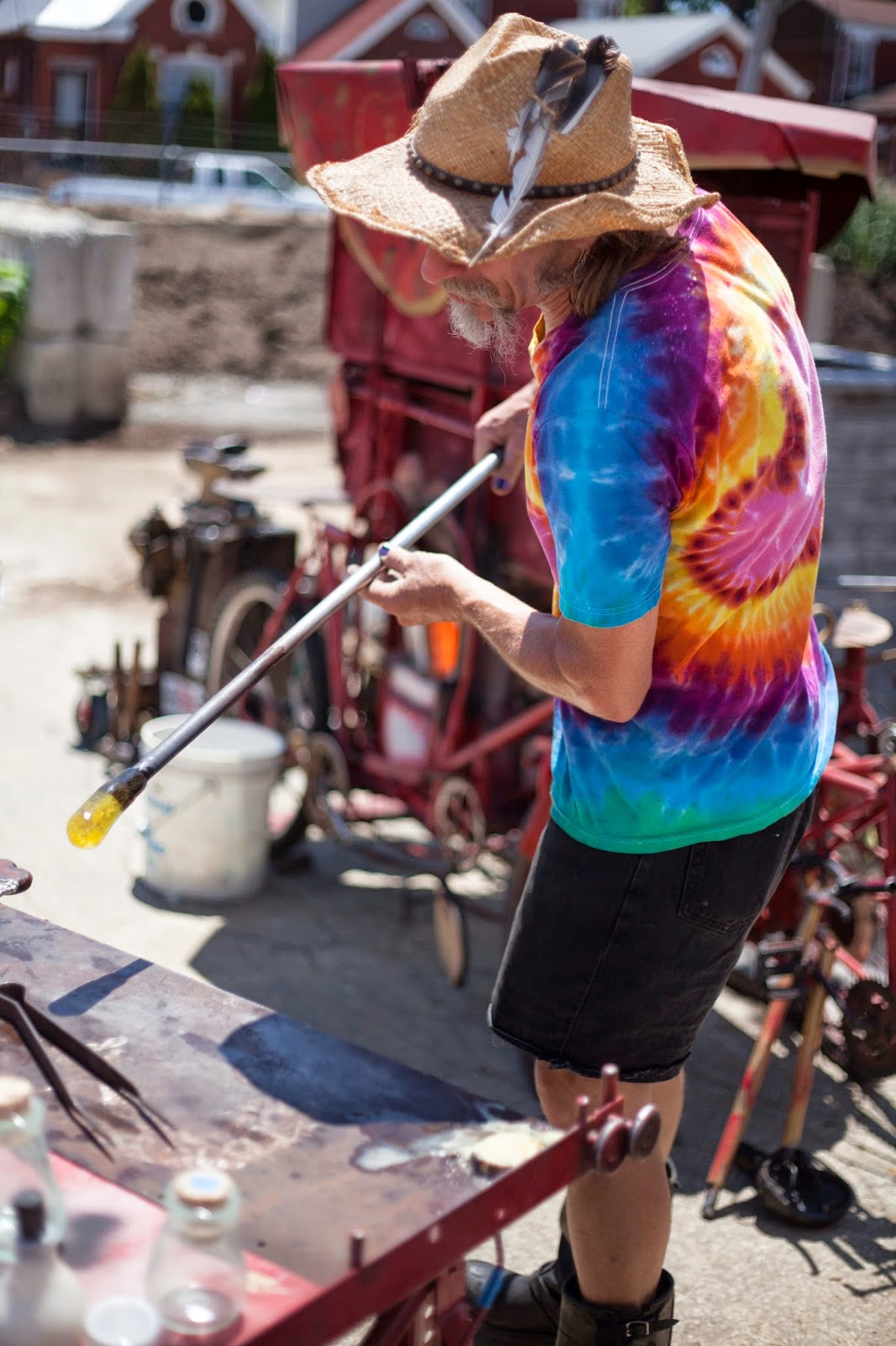 Louisville Flea off Market Glass blowing