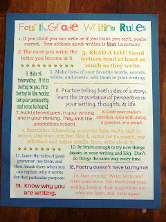 4th grade essay writing