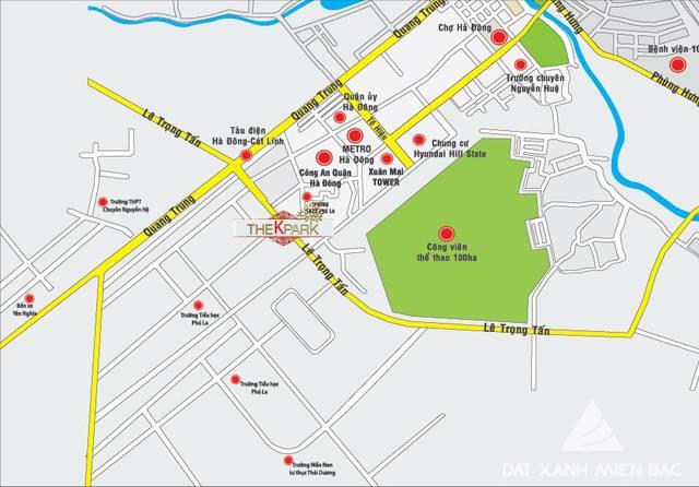 vị trí chung cư the k park