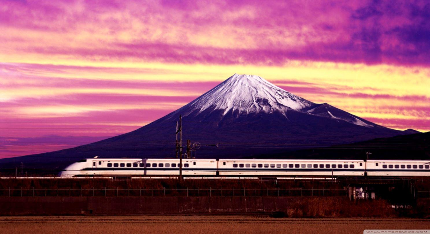 Shinkansen Train Mount Fuji Wallpaper Hd Gold Wallpapers
