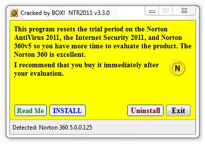 free software downloads: Norton 2011 Trial Reset v3 3 0 (NAV-NIS-N360)