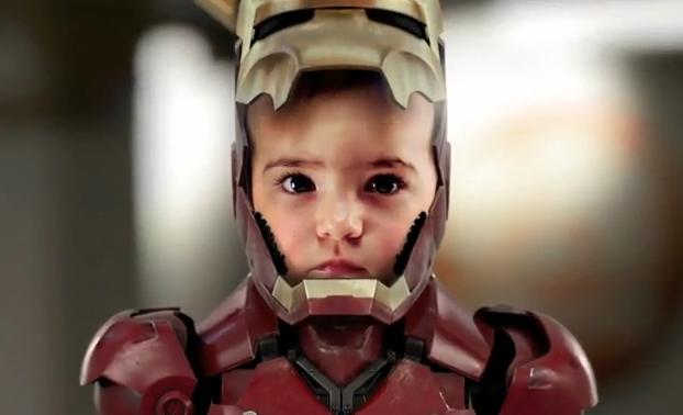 Hijo disfrazado de IronMan