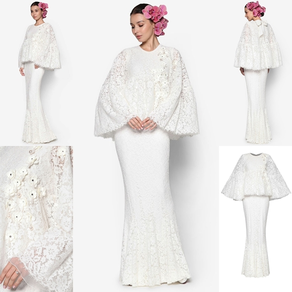 Baju Pengantin Terkini 2016 2017 Rizalman Bridalwear Boronia Cape Dress
