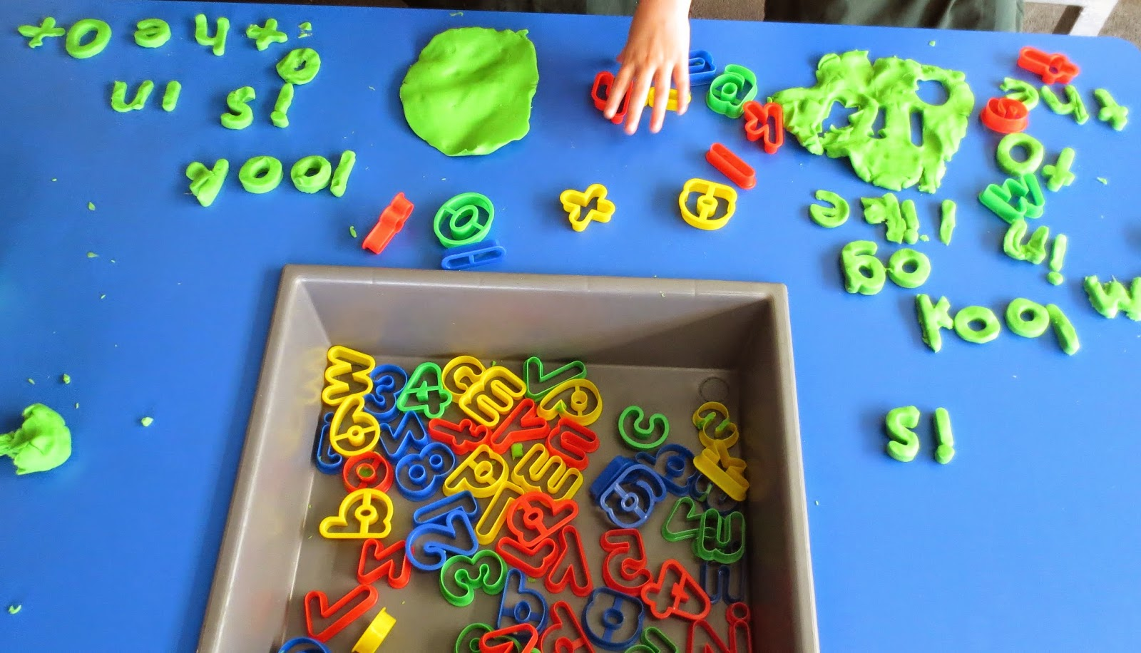 Love laughter and learning in prep playdough creating for Playdough letter cutters