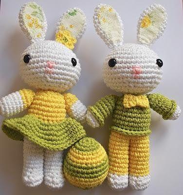 Amigurumi Mr.Bunny&Mrs.Bunny-Free Pattern