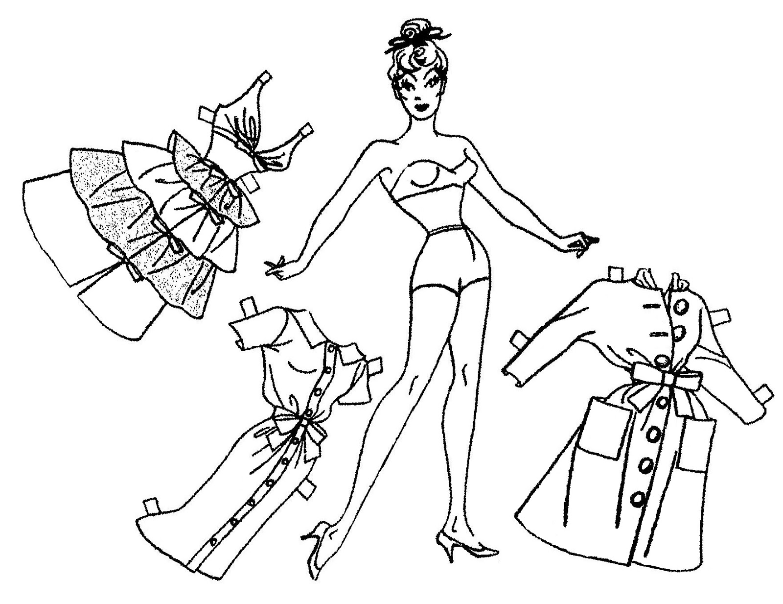 Mostly Paper Dolls Too!: MOPSY Comic Strip Paper Dolls