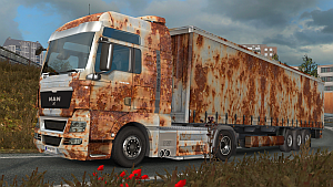 Old Rust pack for MAN TGX by EviL