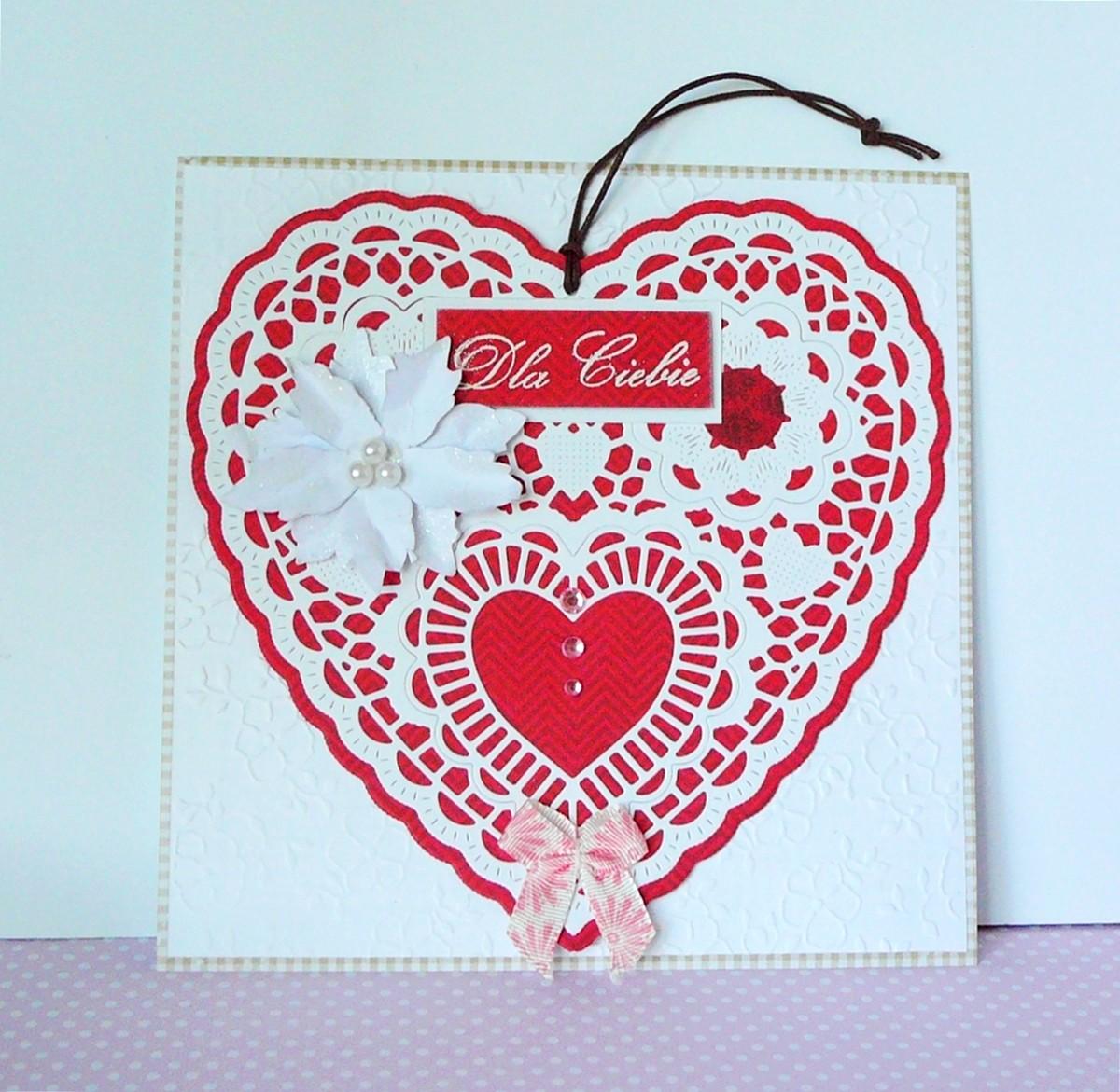 kartka okolicznościowa z sercem