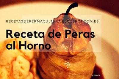 Peras rellenas con Almendras