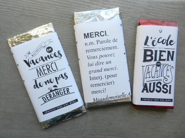 || Un cadeau pour la maitresse (et l'ATSEM !) ; Les jolies tablettes de chocolat