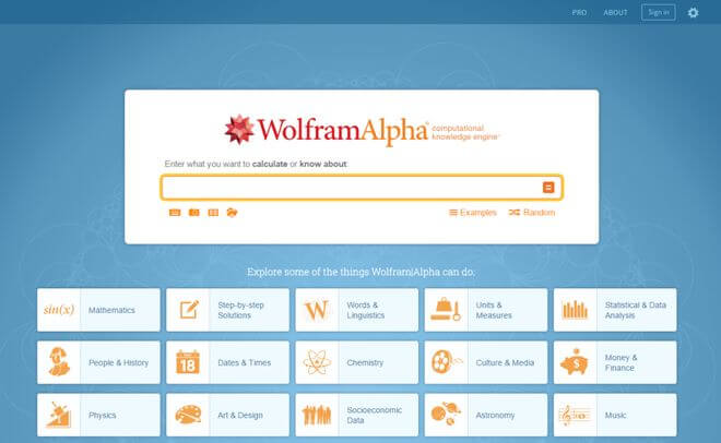 Google Is Not The Only Search Engine That Can Help You Find What You're Looking For. Here Are 8 Alternatives! - WolframAlpha