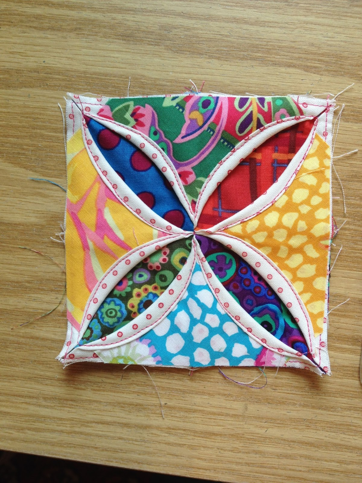Susan S Quilt Creations Mock Cathedral Windows