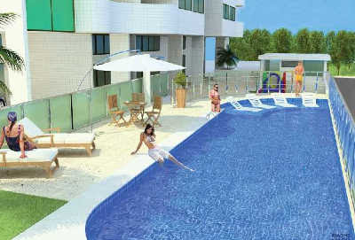 Apartamentos a venda, Maceió, Alagoas, bairro Farol, edf. Palazzo San Pietro-piscina
