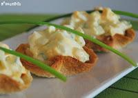 Mini cestas de huevo y cebollino