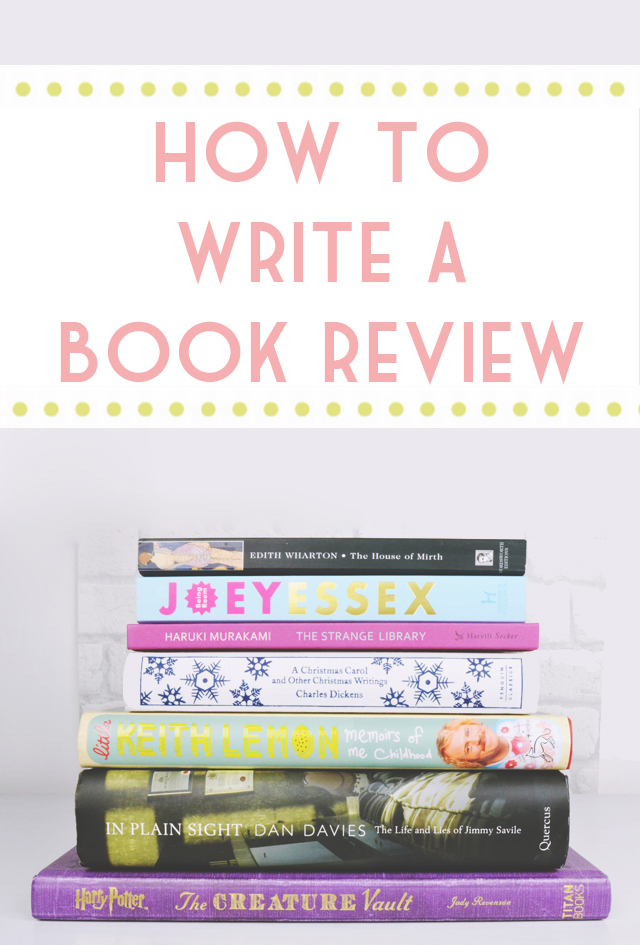 how to write a book reviews