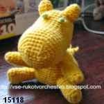 patron gratis hipopotamo amigurumi, free pattern amigurumi hippo